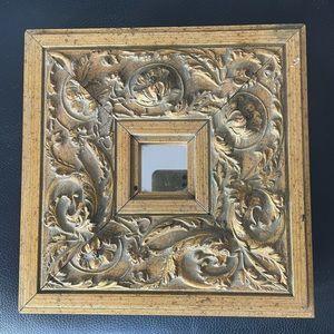 Gold Decorative Mirror.